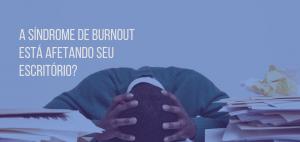 Homem com síndrome de burnout
